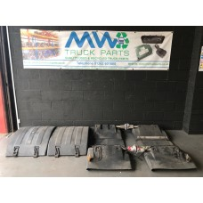 Set of Mud Guards Mud Flaps 4x2 Volvo FH / FM Inc Brackets
