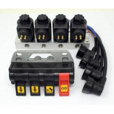4 Way 24v Hydraulic PTO Switch inc Solenoid Valve Set